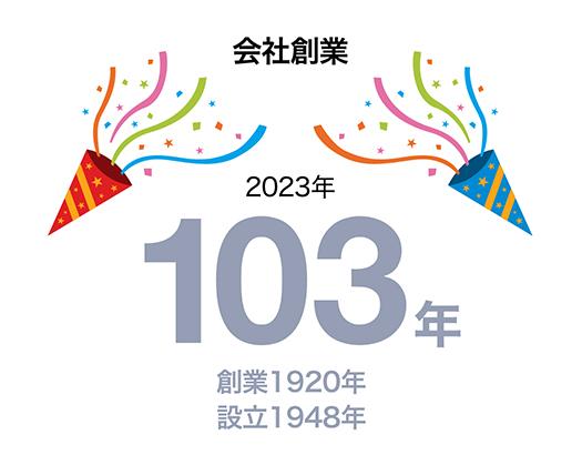 会社創業 2020年で100周年